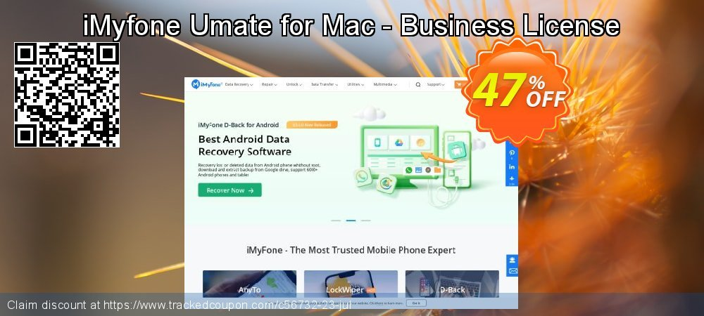 Get 70% OFF iMyfone Umate for Mac - Business License promotions