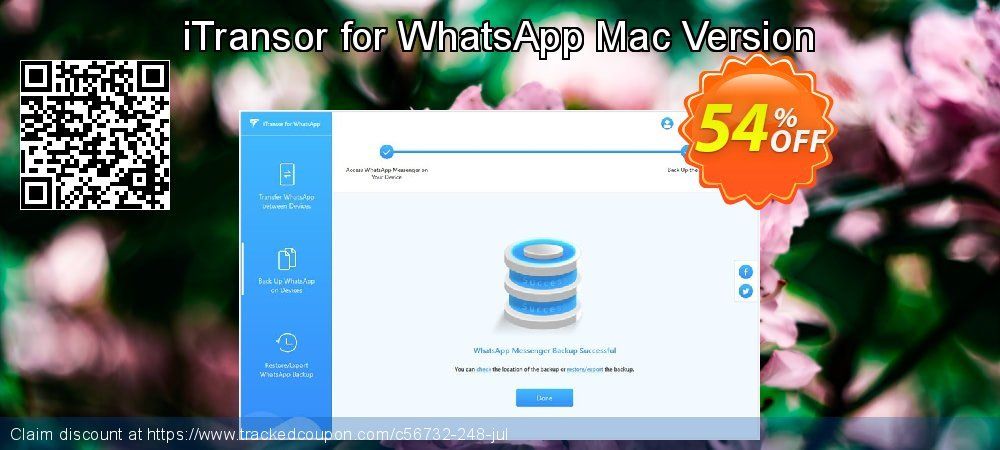 iTransor for WhatsApp Mac Version coupon on Halloween sales