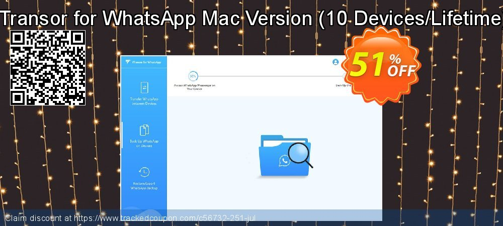 iTransor for WhatsApp Mac Version - 10 Devices/Lifetime  coupon on Halloween discount
