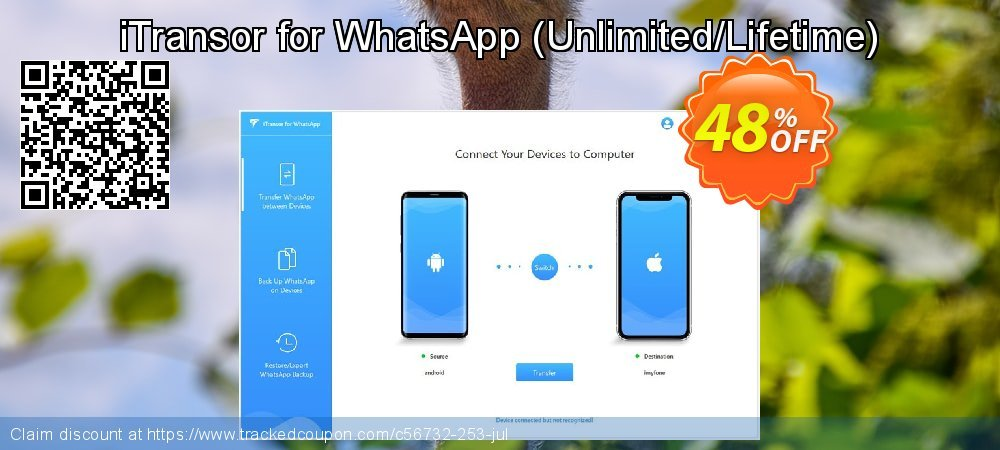 iTransor for WhatsApp - Unlimited/Lifetime  coupon on Halloween offering sales