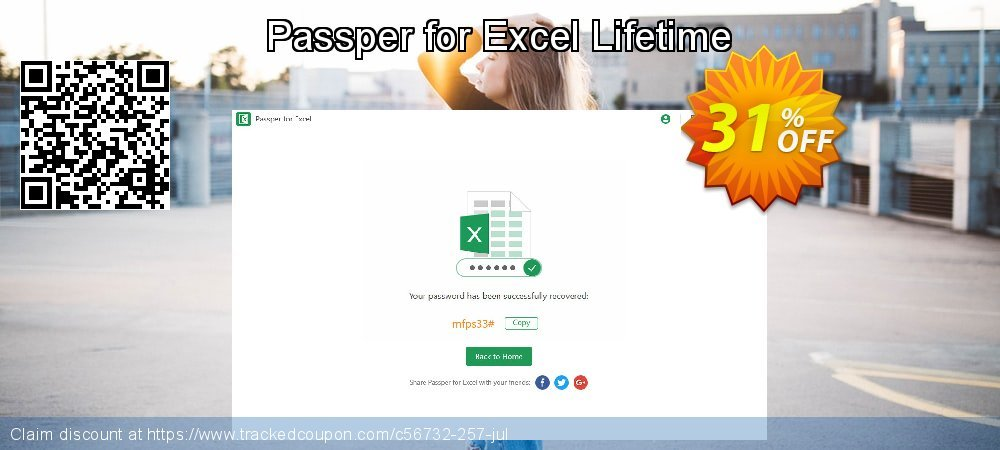 Passper for Excel Lifetime coupon on Halloween sales