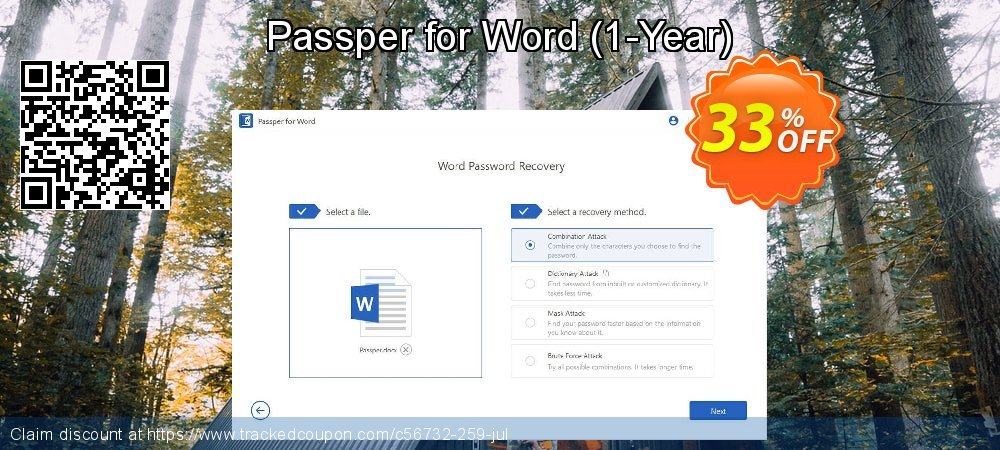 Claim 33% OFF Passper for Word - 1-Year Coupon discount July, 2020