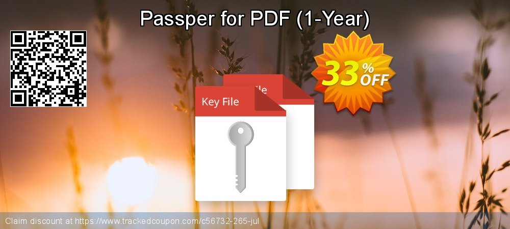 Passper for PDF - 1-Year  coupon on Halloween promotions