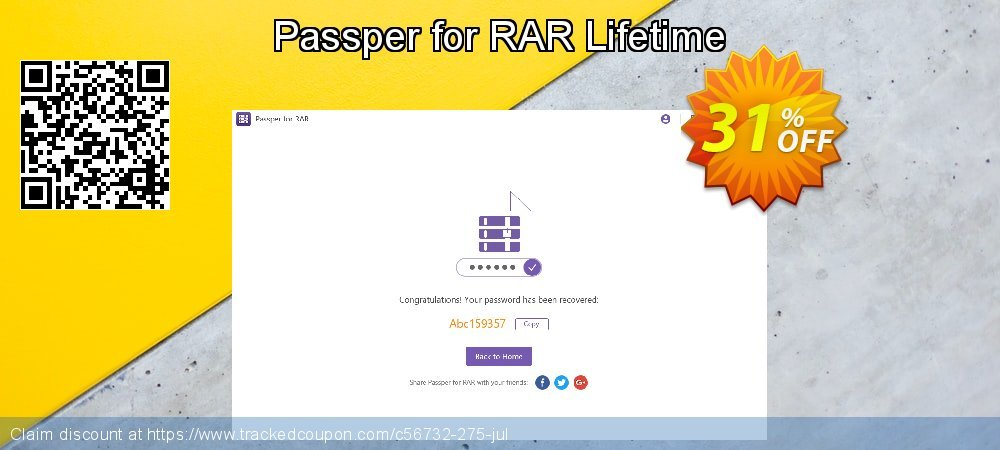 Passper for RAR Lifetime coupon on Halloween sales