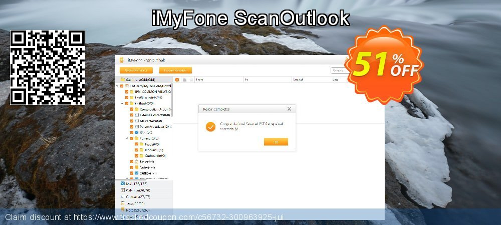 Claim 26% OFF iMyFone ScanOutlook Coupon discount July, 2020
