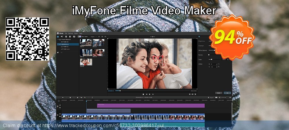 Get 94% OFF iMyFone Filme Video Maker offering sales