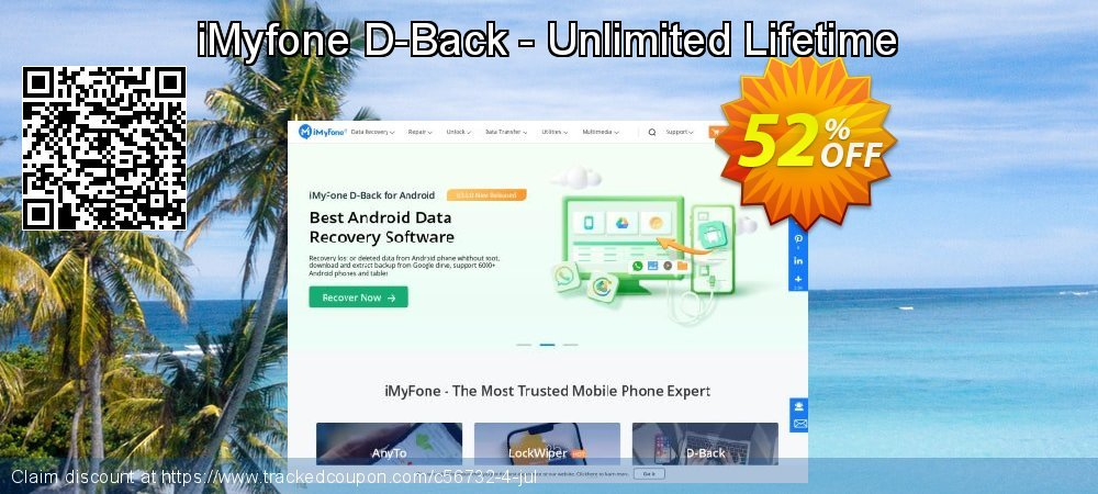 Claim 52% OFF iMyfone D-Back - Unlimited Lifetime Coupon discount June, 2020