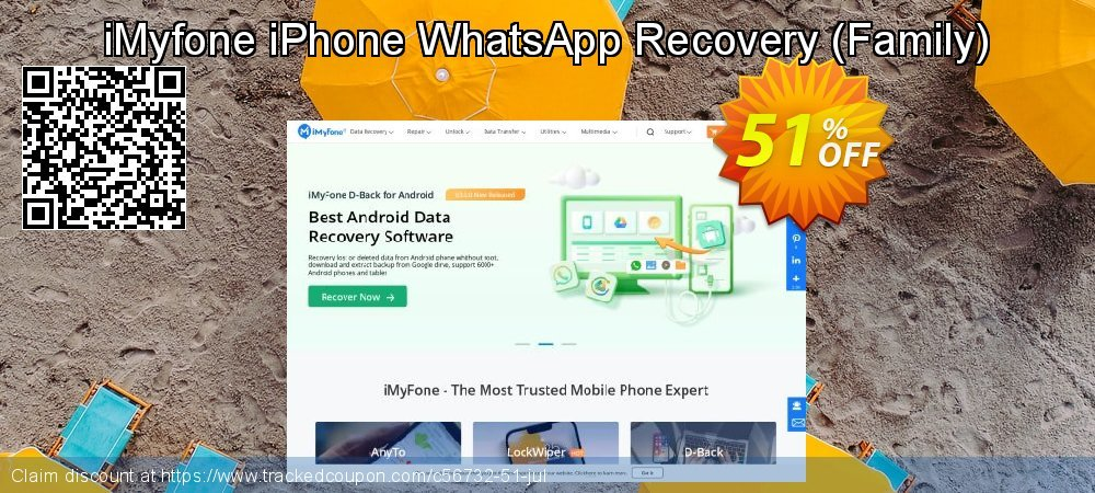 Claim 50% OFF iMyfone iPhone WhatsApp Recovery - Family License Coupon discount August, 2019