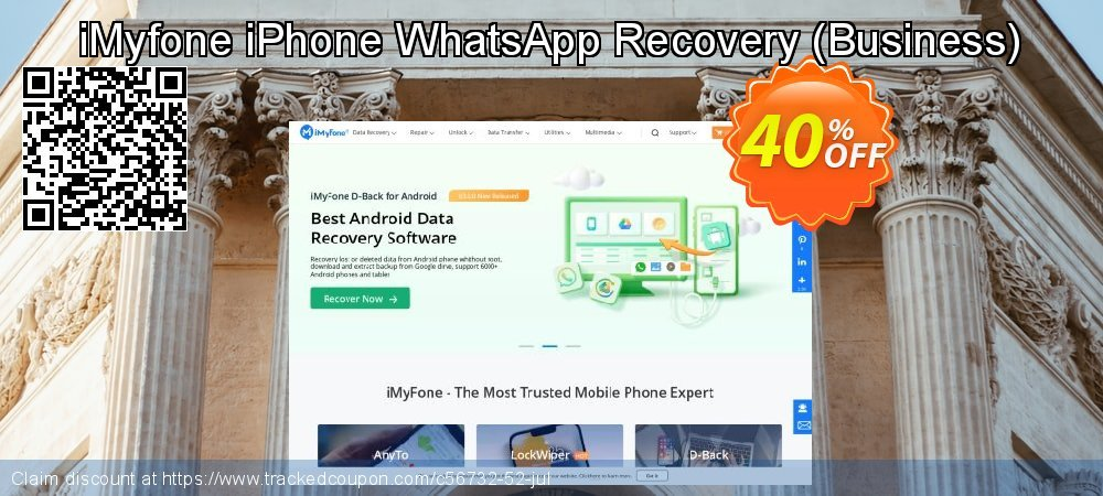 Claim 30% OFF iMyfone iPhone WhatsApp Recovery coupon - Business License Coupon discount May, 2019