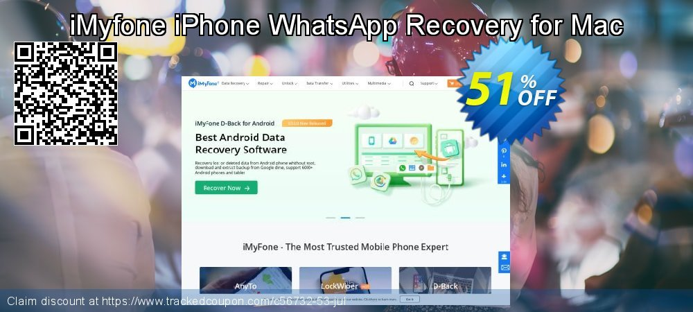 Claim 50% OFF iMyfone iPhone WhatsApp Recovery for Mac Coupon discount August, 2019