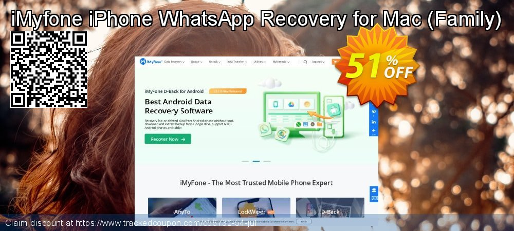 Claim 50% OFF iMyfone iPhone WhatsApp Recovery for Mac (Family) Coupon discount August, 2019