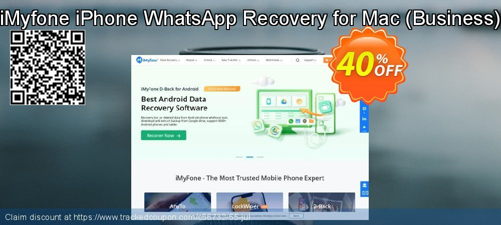 Claim 40% OFF iMyfone iPhone WhatsApp Recovery for Mac - Business Coupon discount September, 2020