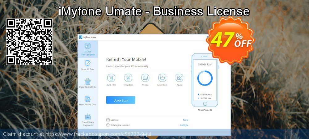 iMyfone Umate - Business License coupon on University Student deals discount