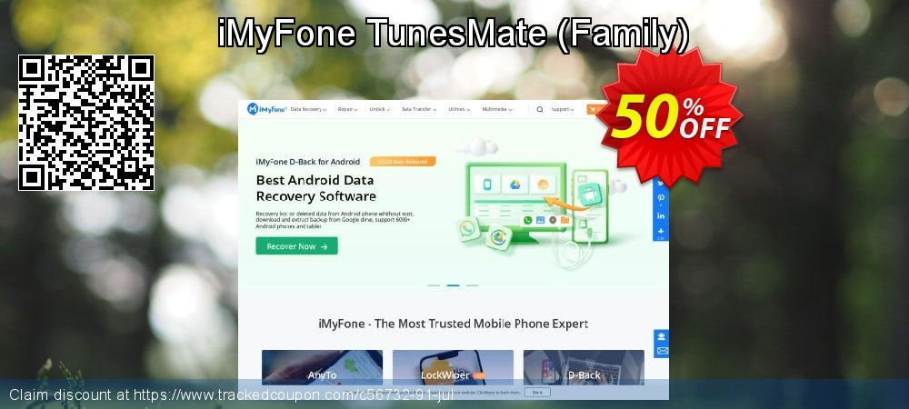 Get 50% OFF iMyFone TunesMate - Family License offering sales