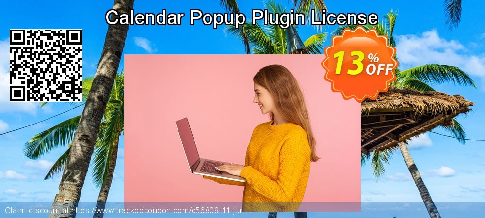 Get 10% OFF Calendar Popup Plugin License offering sales