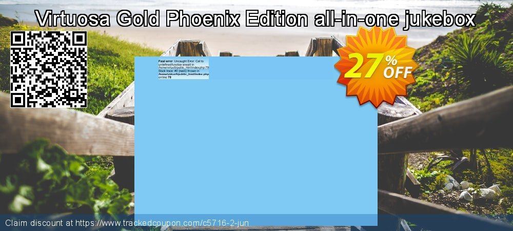Get 25% OFF Virtuosa Gold Phoenix Edition all-in-one jukebox offering sales