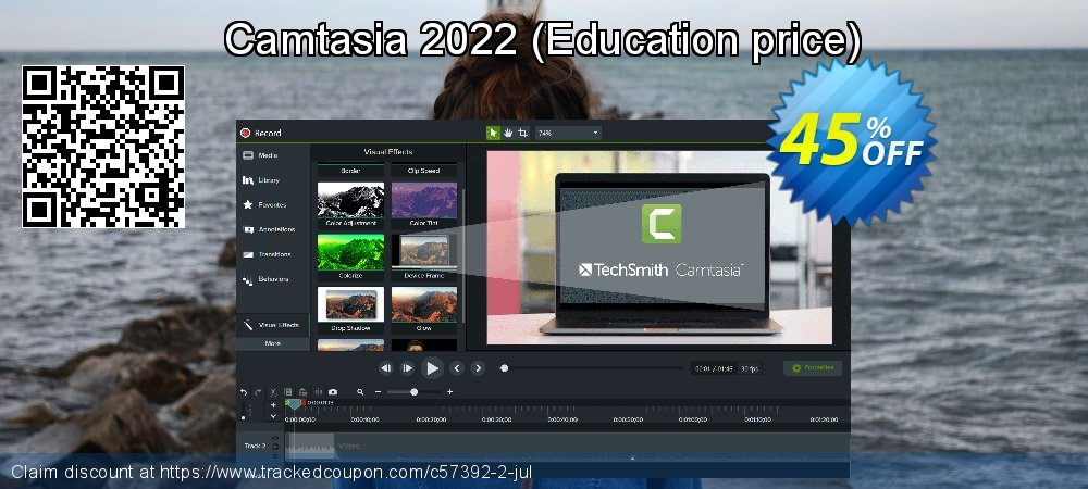 Camtasia 2020 - Education price  coupon on Read Across America Day offer