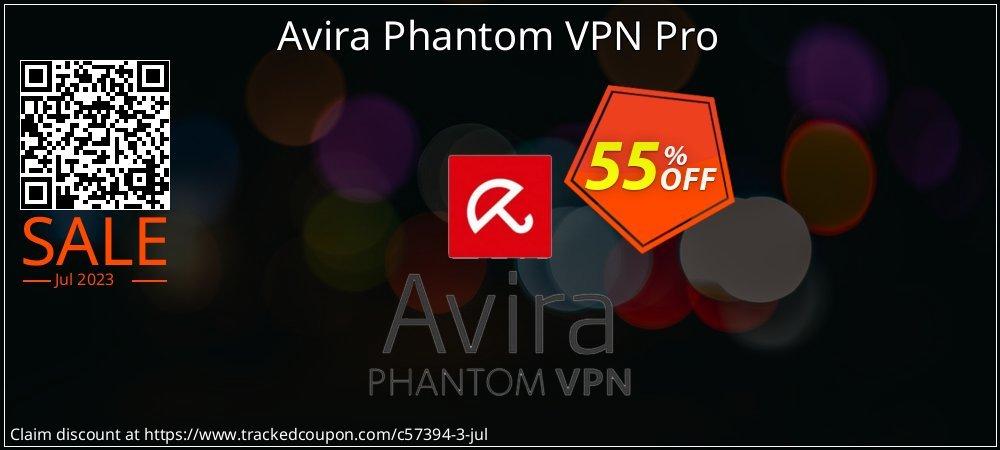 Get 55% OFF Avira Phantom VPN Pro offering sales