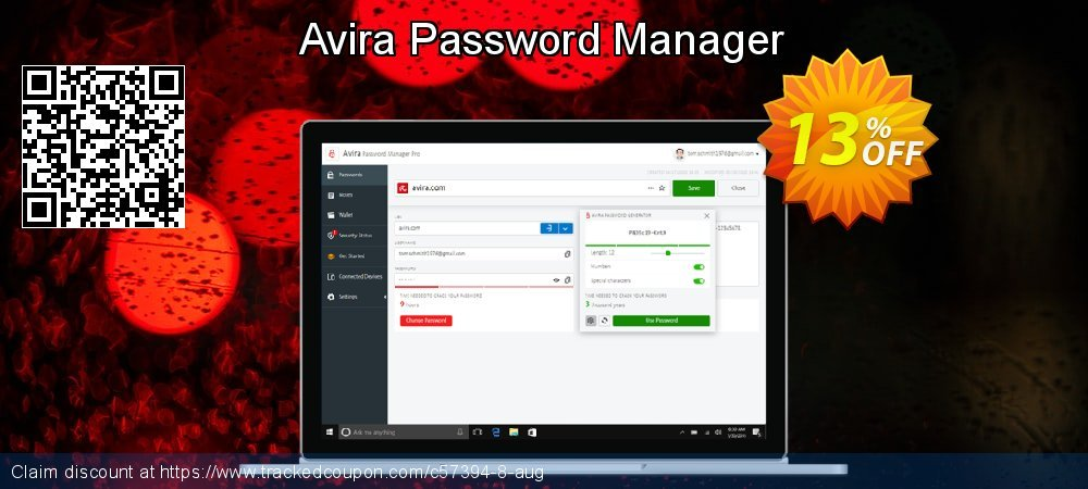 Claim 13% OFF Avira Password Manager Coupon discount March, 2021