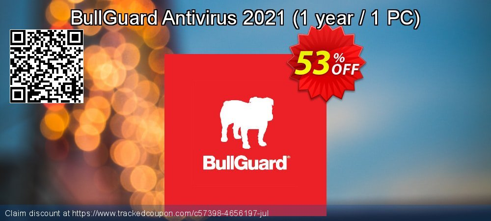 BullGuard Antivirus 2021 - 1 year / 1 PC  coupon on Mothers Day deals