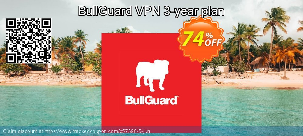 BullGuard VPN 3-year plan coupon on Mothers Day offering discount