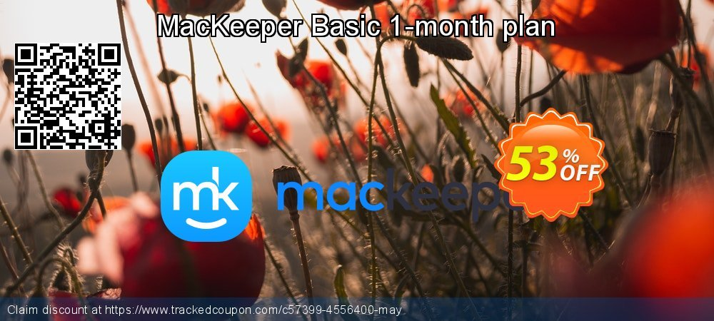 MacKeeper Basic 1-month plan coupon on Mom Day super sale