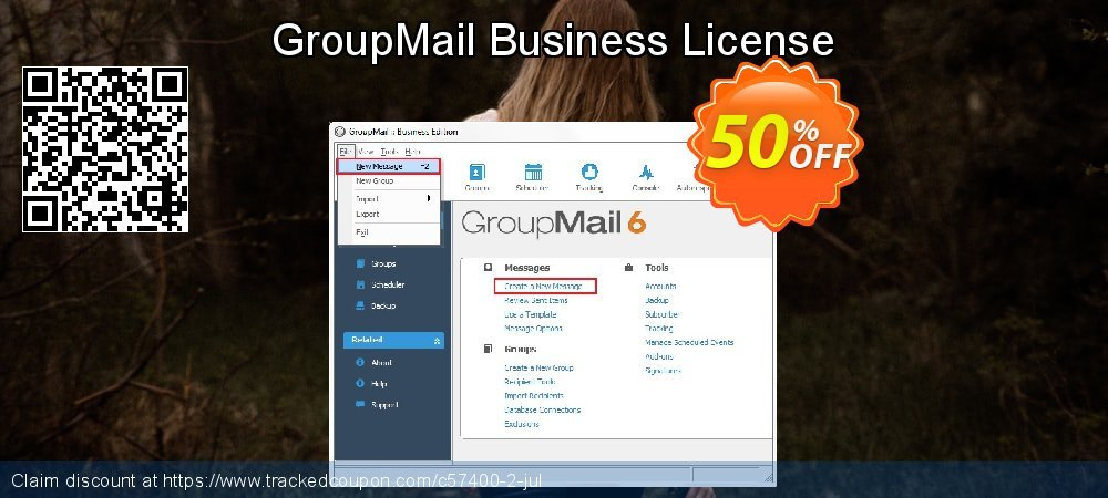 GroupMail Business License coupon on Eid al-Adha offering sales