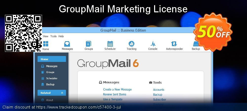 GroupMail Marketing License coupon on Video Game Day super sale