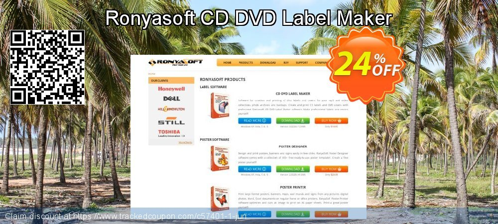 Ronyasoft CD DVD Label Maker coupon on American Independence Day offering sales