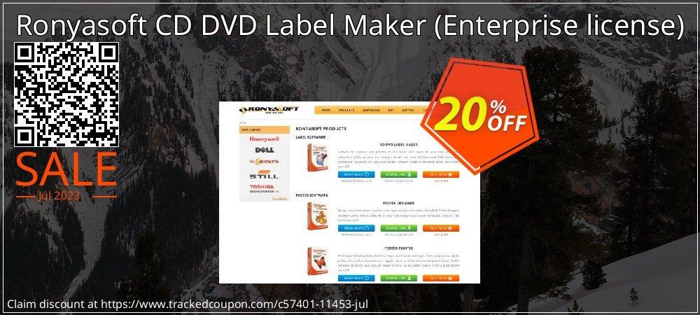 Ronyasoft CD DVD Label Maker - Enterprise license  coupon on National French Fry Day sales