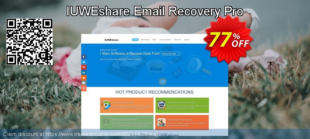 Get 77% OFF IUWEshare Email Recovery Pro promo