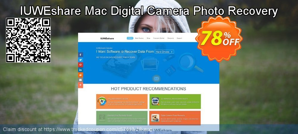 Get 78% OFF IUWEshare Mac Digital Camera Photo Recovery discounts