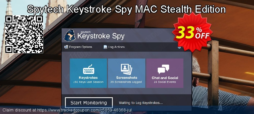 Spytech Keystroke Spy MAC Stealth Edition coupon on Thanksgiving offer