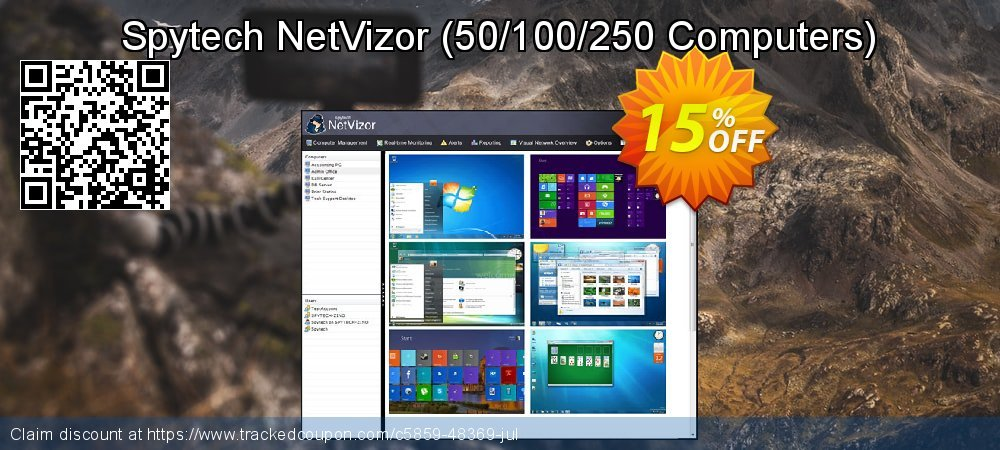 Spytech NetVizor - 50/100/250 Computers  coupon on Mid-year offering discount