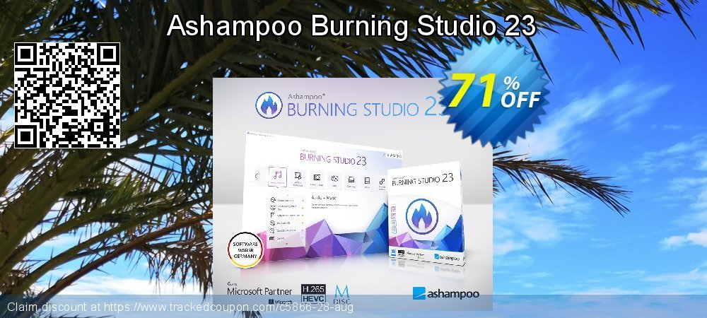 Get 65% OFF Ashampoo Burning Studio offering discount