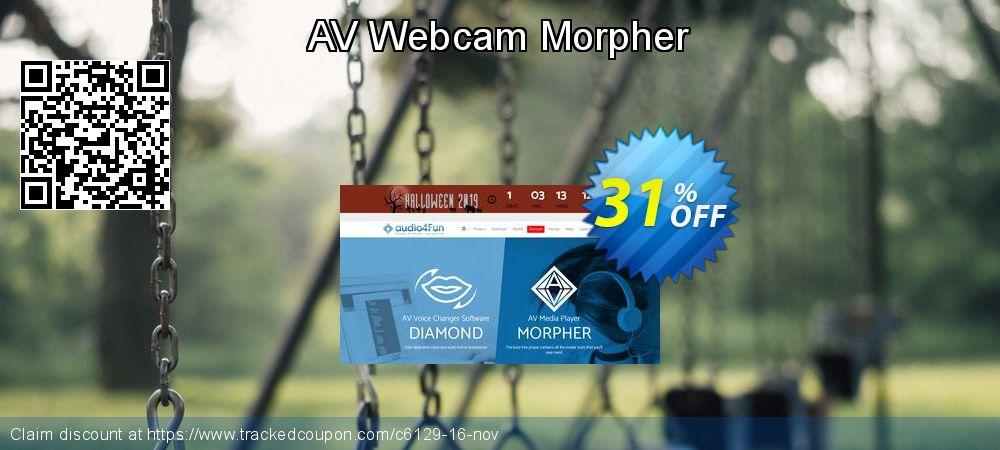 AV Webcam Morpher coupon on New Year super sale