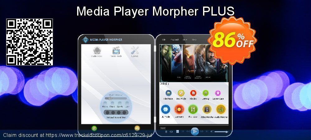 Get 85% OFF Media Player Morpher PLUS offering sales