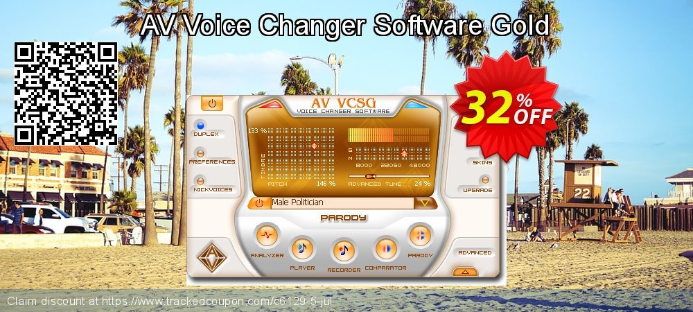 AV Voice Changer Software Gold coupon on Lunar New Year offering discount