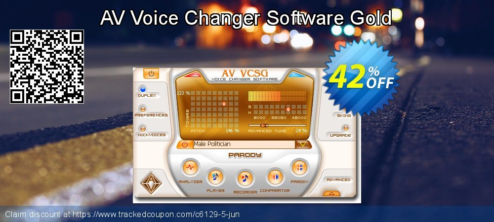 AV Voice Changer Software Gold coupon on Black Friday offering sales