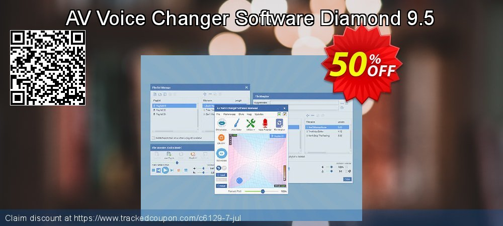 AV Voice Changer Software Diamond 9.5 coupon on New Year's Day super sale