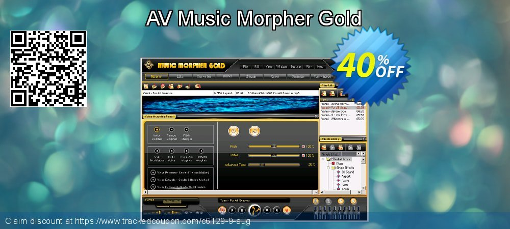 AV Music Morpher Gold coupon on Lunar New Year promotions