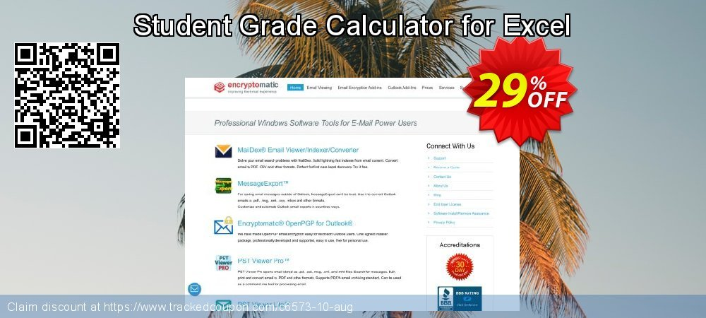 Get 25% OFF Student Grade Calculator for Excel offering sales