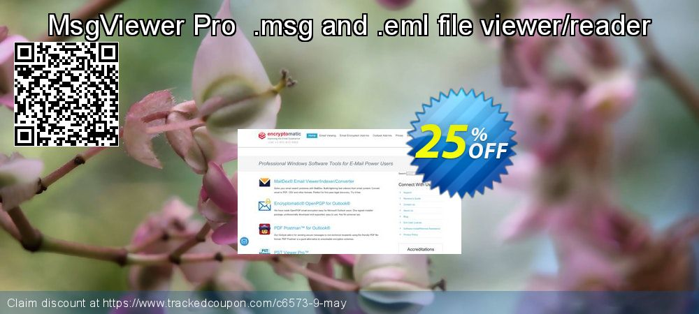 Get 25% OFF MsgViewer Pro .msg and .eml file viewer/reader offering discount