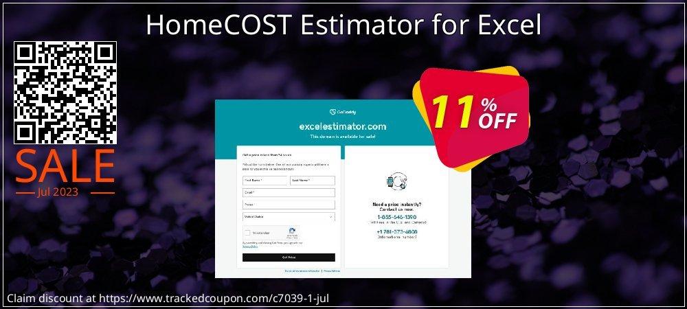 Get 10% OFF HomeCOST Estimator for Excel sales