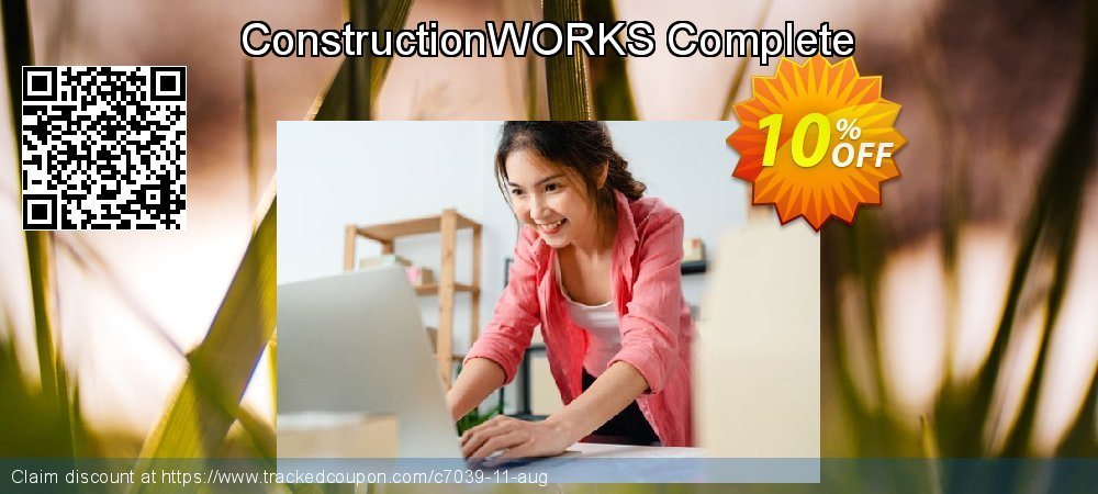 ConstructionWORKS Complete coupon on Back to School promotion sales