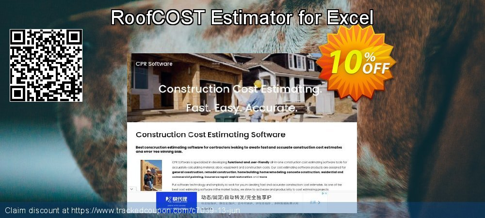RoofCOST Estimator for Excel coupon on New Year's Day offering discount