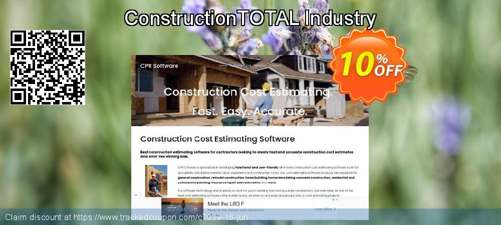 ConstructionTOTAL Industry coupon on New Year discounts