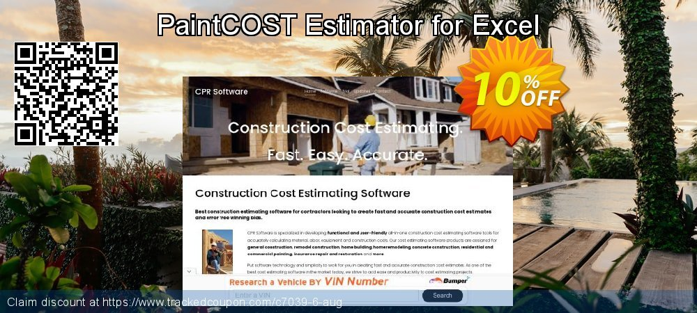 PaintCOST Estimator for Excel coupon on New Year super sale