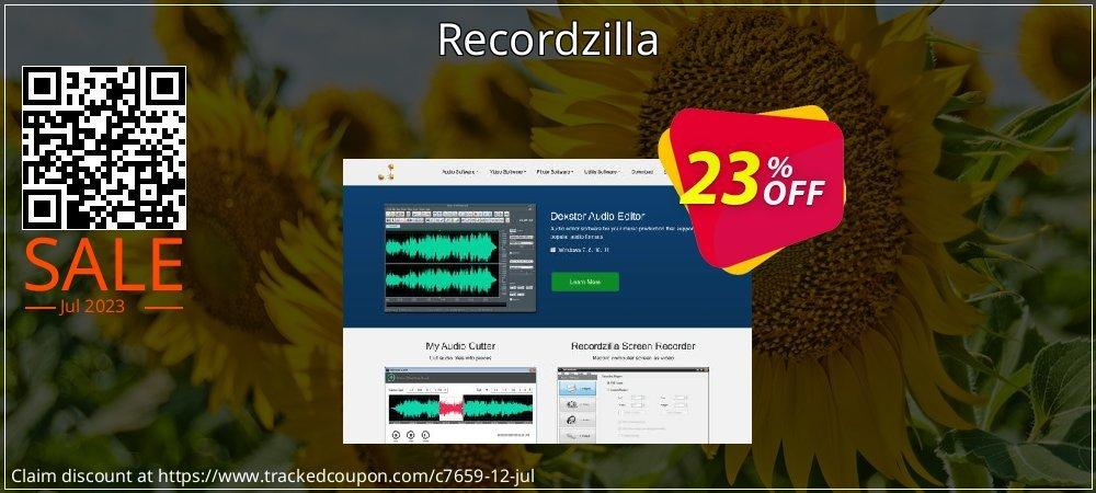 Get 20% OFF Recordzilla offering sales
