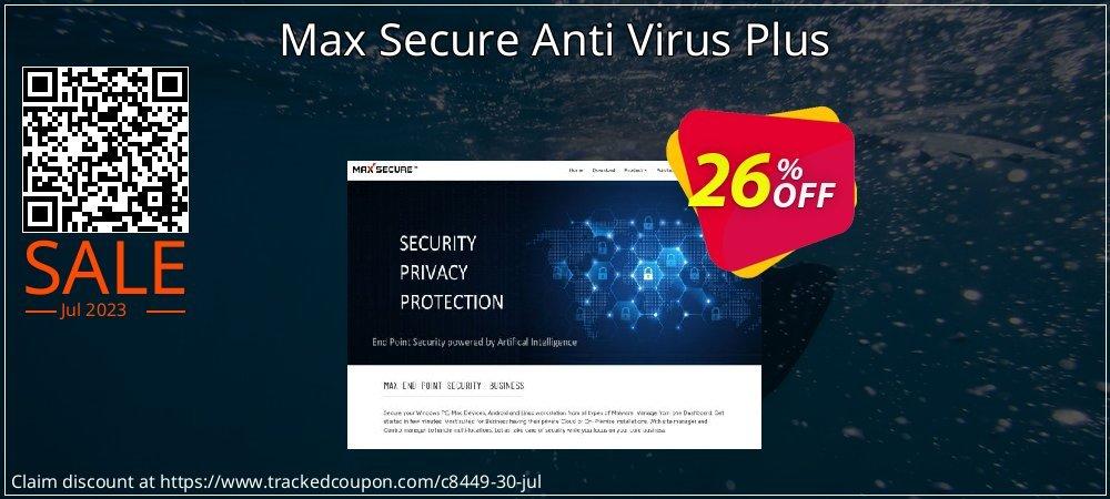Get 25% OFF Max Secure Anti Virus Plus offer